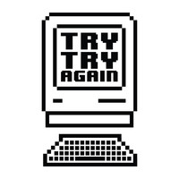 Try Try Again - Office Quote Wall Decals