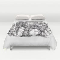 """Anesh the Creative Elephant"" Duvet Cover by Cindy Lysonski (Cicy)"