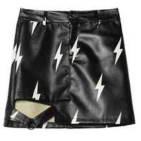 Cool 90's style Faux Leather Skirt