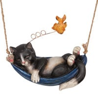 Dreaming Kitten Hanging Figurine