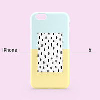 iPhone 6 case - Pastel blue yellow black dot - iPhone 6 case, iPhone 6 Plus case, iPhone 5s case, iPhone 5 case, iPhone 4s case non-glossy