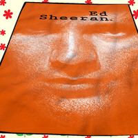 Ed sheeran in orange Music Cover Kids Blanket Bedroom Vintage Home Living Quilts
