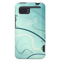 Turquoise Vector Flowers HTC Vivid / Raider 4G Cover from Zazzle.com