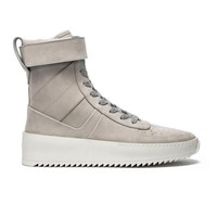 Indie Designs Fear Of God Inspired Grey Military High Top Sneakers