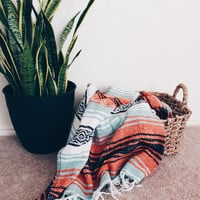 MEXICAN BLANKET // beach, yoga, adventure blanket, miami blanket, falsa blanket, vintage blanket