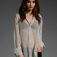 SAM&LAVI Johnna Button Front Blouse in Ash at Revolve Clothing