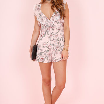 FOR LOVE AND LEMONS | Bee Balm Romper - Pink Floral