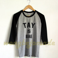 Taylor Swift Is Bae Tshirt Taylor Swift Shirt Taylor Swift 1989 Tour Merch Baseball Raglan 3/4 Tee Shirts Tshirt Unisex Size