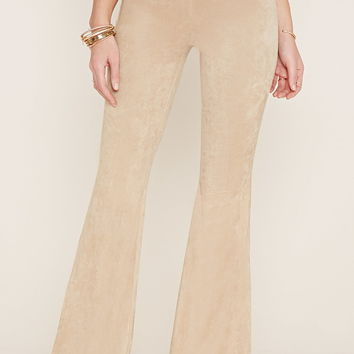 Faux Suede Flared Pants | Forever 21 - 2000186381