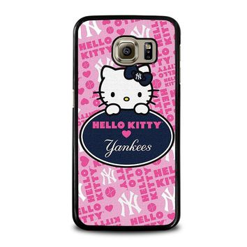 HELLO KITTY NEW YORK YANKEES Samsung Galaxy S6 Case Cover