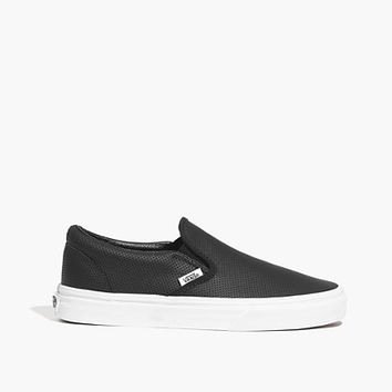 VANS® CLASSIC SLIP-ONS IN PERFORATED LEATHER