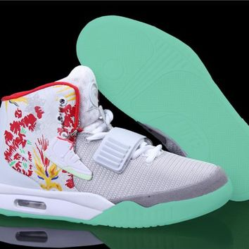 "[Free Shipping ] Nike Air Yeezy 2 ""Givenchy"" by Mache Customs Basketball Sneaker"