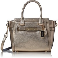 COACH Womens Pebbled Leather Coach Swagger 21