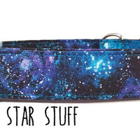 Galaxy Dog Collar - Space Dog Collar - Stars Dog Collar - Boy Dog Collar Girl Dog Collar - Star Stuff Metal Buckle Collar Martingale Collar