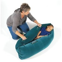Abilitations Integrations Pea Pod Inflatable Student Calming Station - Junior Size - 48 Inches - Green