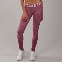 Gymshark Flex Leggings - Beet Marl/Chalk Pink