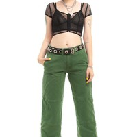 Vintage 90's Green Machine Paneled Pants - S/M