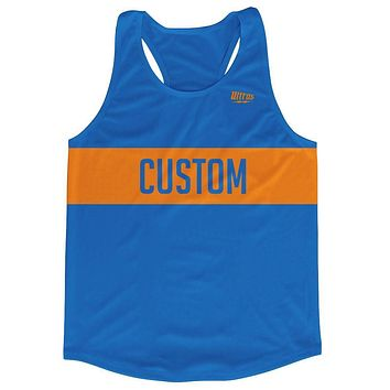 Custom Bold Finish Line Running Tank Top Racerback Track and Cross Country Singlet Jersey