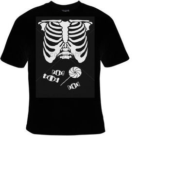 candy belly skull bones t shirt funny great cute gift tshirts