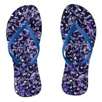 Blue Note Blues Music Notes Flip Flops