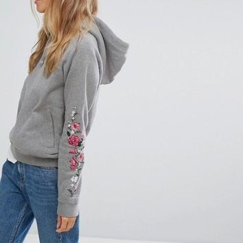 Jack Wills Hoody with Rose Embroidery at asos.com