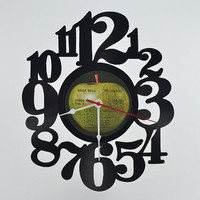 Unique Vinyl Record Wall Clock (artist is The Beatles)