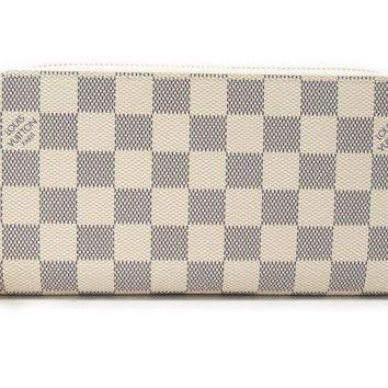 LOUIS VUITTON Damier Azur Canvas Zippy Wallet Long Wallet N41660