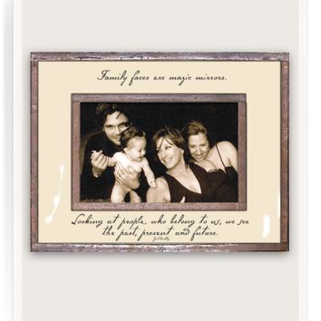 Family Faces Are Magic Mirrors Copper & Glass Photo Frame