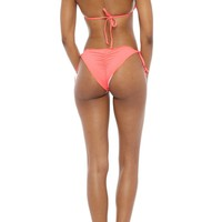Ruffled Side Tie Bikini Bottom