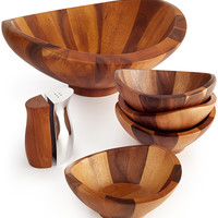 Nambe Wood Salad Bowl Collection