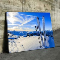 Ski View Canvas Set