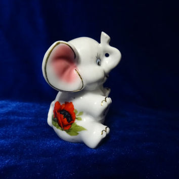 VINTAGE Porcelain Figurine elefant antique ussr romania small 7