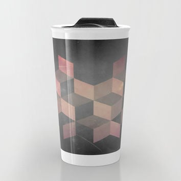 Pink & Gray Travel Mug by DuckyB (Brandi)