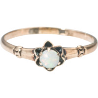 Antique Victorian 10k Gold Opal Ring