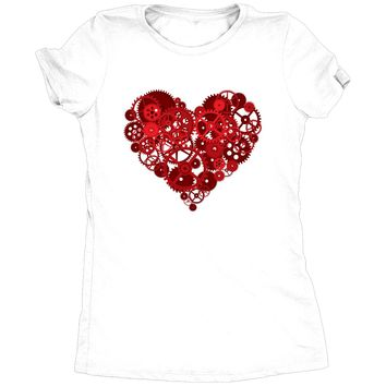 Valentine Steampunk Heart Women's Tri-Blend T-Shirt