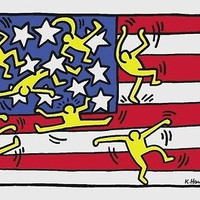 Untitled (Flag), Offset Lithograph, Keith Haring
