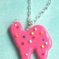circus animal cookie necklace