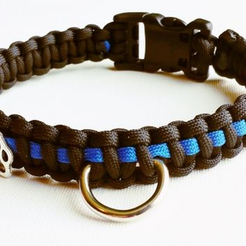 Thin Blue Line K9 Paracord Dog Collar