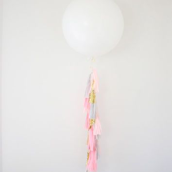 36 inch Giant Balloon Tassel Garland - Party Decoration, Balloon Garland, Pink Tassel Garland, Photo Shoot Prop, and Wedding Decor