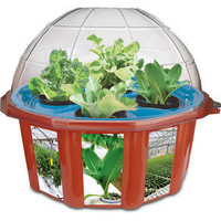ThinkGeek :: HydroDome DIY Hydroponics Kit