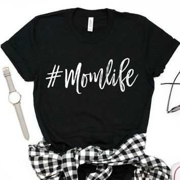 Mom Life Letters Print Women Tshirt Loose Harajuku  Cotton Casual Funny T Shirt for Lady Girl Top Tee Hipster Drop Ship