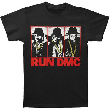 Run DMC Men's  Three Chains T-shirt Black