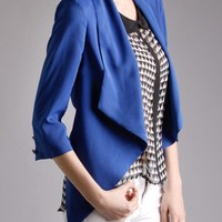 Royal Layer Cropped Jacket in  Tops at Frock Candy