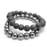 Lava Rock and Hemitite Bracelet