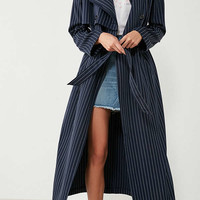 Jovonna London Nadia Striped Trench Coat | Urban Outfitters
