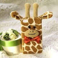 CrazyPomelo Lovely Giraffe Handmade Plush Case For iPhone 4/4s