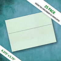 A2 Size GREEN TEA Parchment  Envelopes | Pack of 25