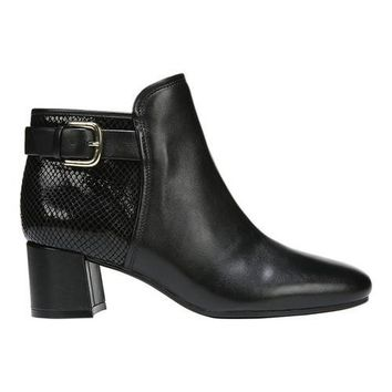 Women's Naturalizer Nailah Bootie Black Premium Leather/Printed Snake | Overstock.com Shopping - The Best Deals on Boots