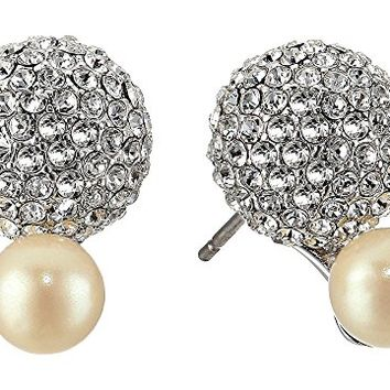 Kate Spade New York Flying Colors Pave Double Bauble Stud Earrings