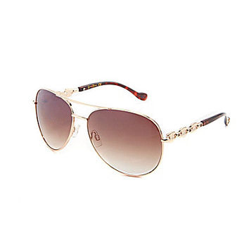 Jessica Simpson Chain Link Aviator Sunglasses | Dillards.com